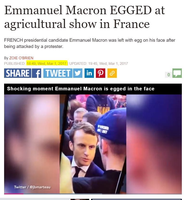 Old Video Of Macron Egged In Public Fact Check Misbar