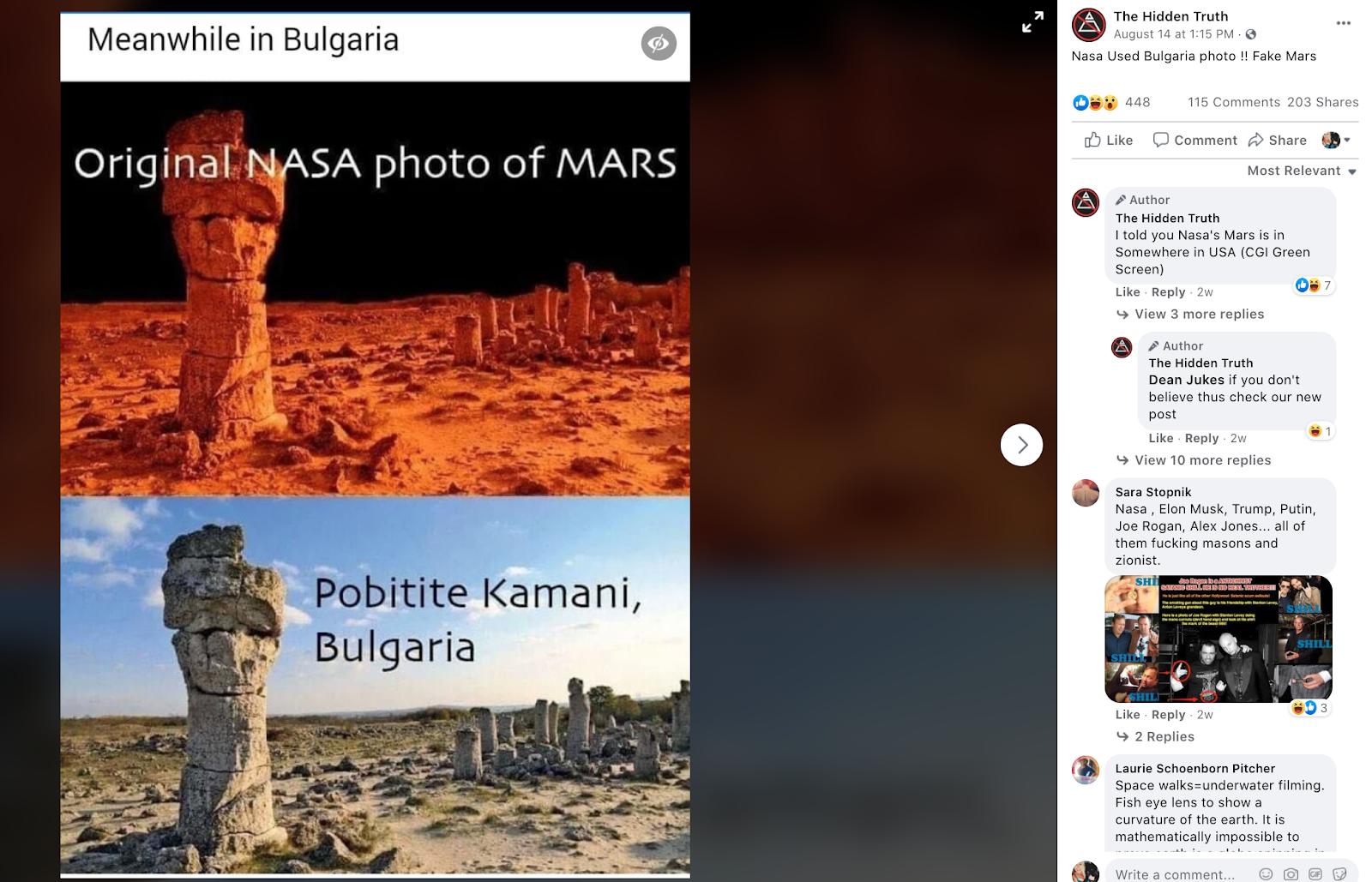 NASA Didn't Use Fake Mars Photo | Fact Check | Misbar